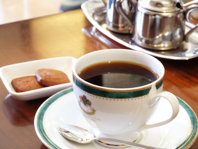 ホテルのコーヒーショップ