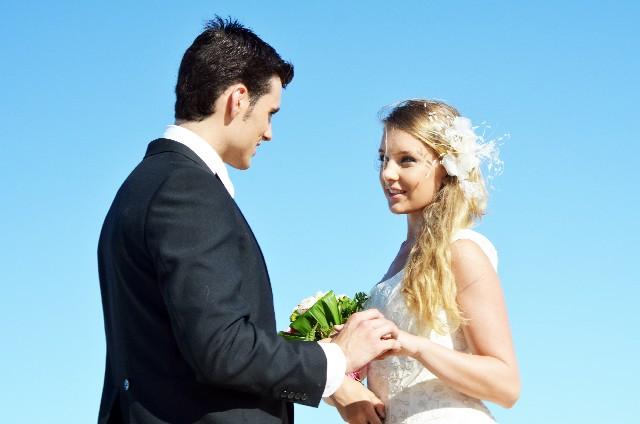 結婚式 青空